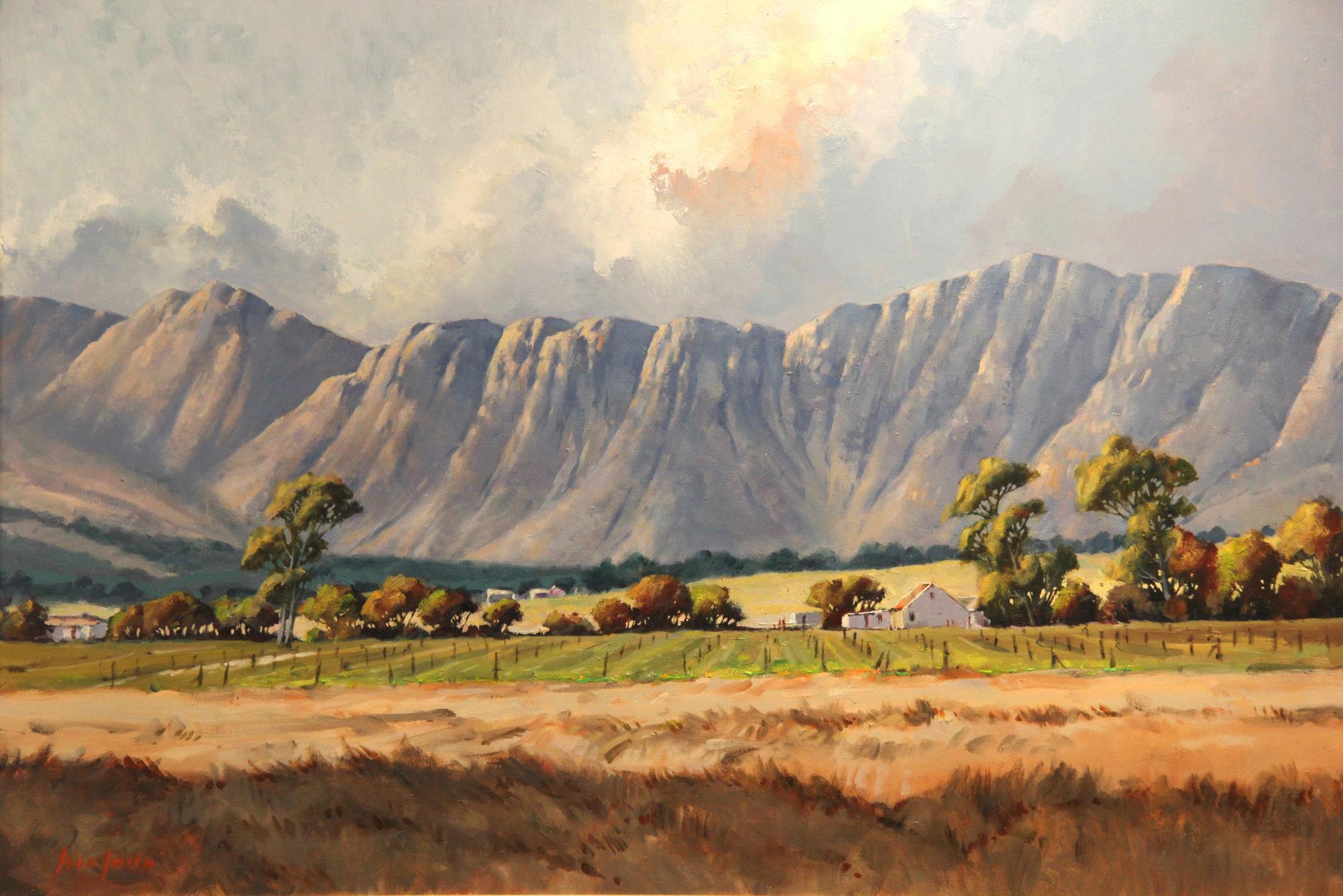 'Between Paarl and Stellenbosch'